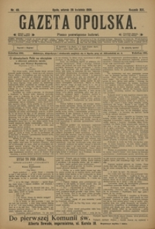 Gazeta Opolska, 1908, R. 19, nr 49