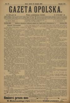 Gazeta Opolska, 1908, R. 19, nr 97