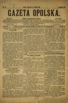Gazeta Opolska, 1910, R. 21, nr 17