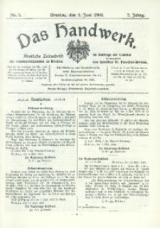 Das Handwerk, 1903/1904, Jg. 2, nr 5