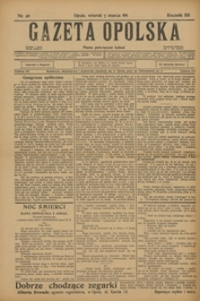 Gazeta Opolska, 1911, R. 22, nr 28