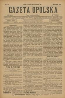 Gazeta Opolska, 1911, R. 22, nr 42