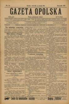 Gazeta Opolska, 1911, R. 22, nr 60