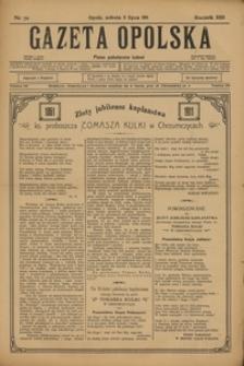 Gazeta Opolska, 1911, R. 22, nr 79