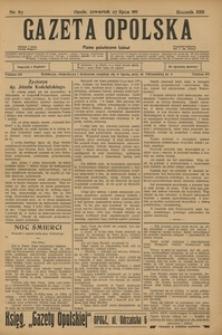 Gazeta Opolska, 1911, R. 23 [właśc. 22], nr 87