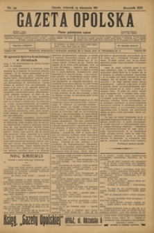 Gazeta Opolska, 1911, R. 23 [właśc. 22], nr 95