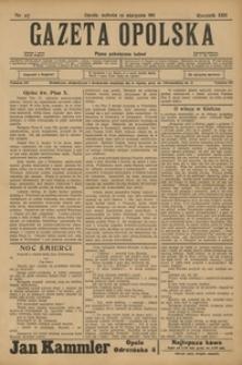Gazeta Opolska, 1911, R. 23 [właśc. 22], nr 97