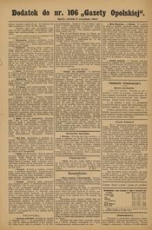Gazeta Opolska, 1911, R. 23 [właśc. 22], nr 106