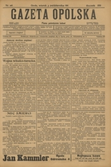 Gazeta Opolska, 1911, R. 23 [właśc. 22], nr 116