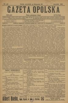 Gazeta Opolska, 1911, R. 23 [właśc. 22], nr 138