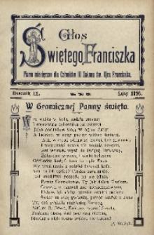 Głos Świętego Franciszka, 1916, R. 9, z. 2