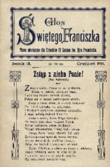 Głos Świętego Franciszka, 1916, R. 9, z. 12