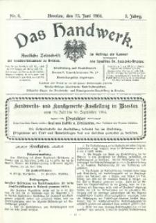 Das Handwerk, 1904/1905, Jg. 3, nr 6