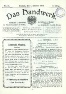 Das Handwerk, 1904/1905, Jg. 3, nr 13