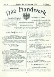 Das Handwerk, 1904/1905, Jg. 3, nr 14