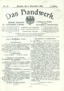 Das Handwerk, 1904/1905, Jg. 3, nr 17