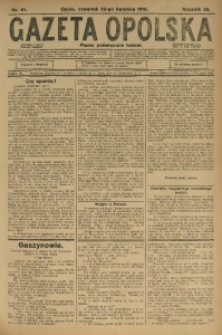 Gazeta Opolska, 1915, R. 25 [właśc. 26], nr 61