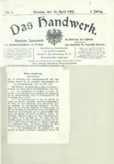 Das Handwerk, 1905/1906, Jg. 4, nr 2