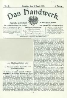 Das Handwerk, 1905/1906, Jg. 4, nr 5