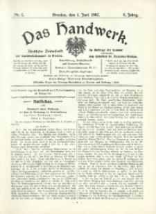 Das Handwerk, 1907/1908, Jg. 6, nr 5