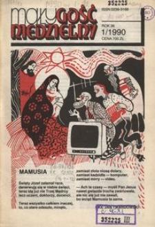 Mały Gość Niedzielny, 1990, R. 36, nr 1