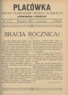 Placówka. Organ Peowiaków Okręgu Śląskiego, 1937, R. 2 , nr 6