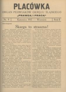 Placówka. Organ Peowiaków Okręgu Śląskiego, 1937, R. 2 , nr 9