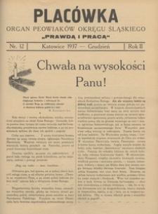 Placówka. Organ Peowiaków Okręgu Śląskiego, 1937, R. 2 , nr 12