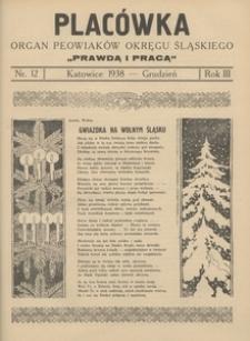 Placówka. Organ Peowiaków Okręgu Śląskiego, 1938, R. 3 , nr 12