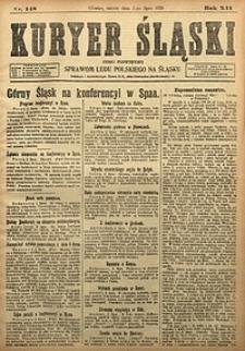 Kuryer Śląski, 1920, R. 12 [właśc. 14], nr148