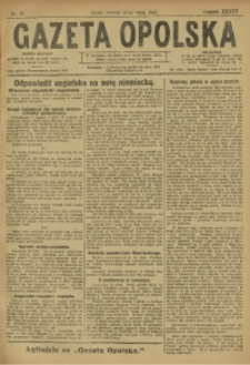Gazeta Opolska, 1923, R. 33 [właśc. 34], nr 58