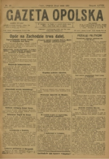 Gazeta Opolska, 1923, R. 33 [właśc. 34], nr 62