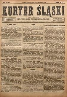 Kuryer Śląski, 1920, R. 12 [właśc. 14], nr219