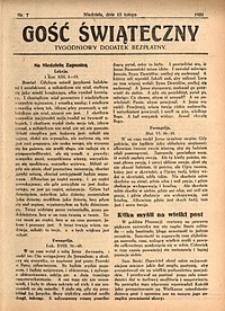 Gość Świąteczny, 1931, nr7