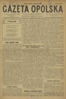 Gazeta Opolska, 1921, R. 31 [właśc. 32], nr 1