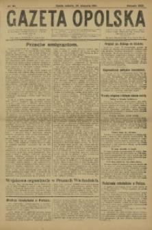 Gazeta Opolska, 1921, R. 31 [właśc. 32], nr 23