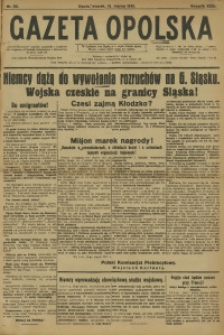 Gazeta Opolska, 1921, R. 31 [właśc. 32], nr 60