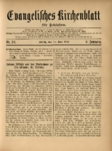 Evangelisches Kirchenblatt für Schlesien, 1903, Jg. 6, Nr. 24