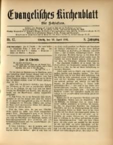 Evangelisches Kirchenblatt für Schlesien, 1905, Jg. 8, Nr. 17