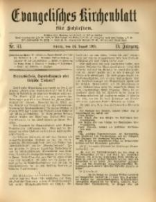 Evangelisches Kirchenblatt für Schlesien, 1910, Jg. 13, nr 33