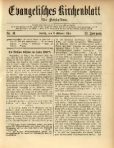 Evangelisches Kirchenblatt für Schlesien, 1910, Jg. 13, nr 41