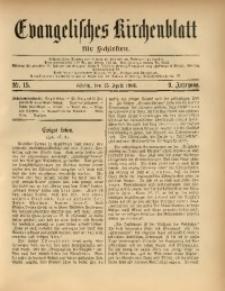 Evangelisches Kirchenblatt für Schlesien, 1906, Jg. 9, Nr. 15