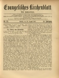 Evangelisches Kirchenblatt für Schlesien, 1907, Jg. 10, Nr. 33