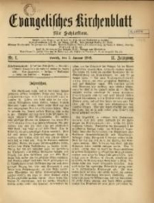 Evangelisches Kirchenblatt für Schlesien, 1908, Jg. 11, nr 1