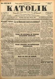 Katolik, 1930, R. 63, nr103