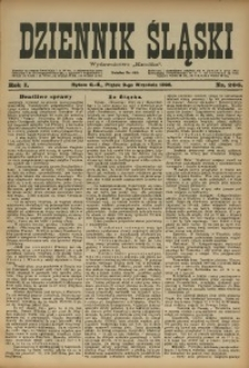 Dziennik Śląski, 1898, R. 1, nr 206