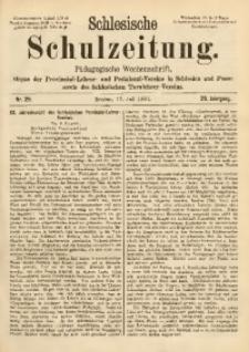 Schlesische Schulzeitung, 1891, Jg. 20, Nr. 29