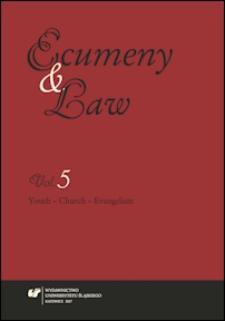 Ecumeny and Law. Vol. 5, Youth - Church - Evangelism