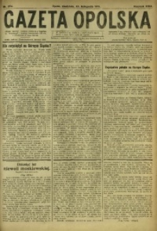 Gazeta Opolska, 1919, R. 29 [właśc. 30], nr 274