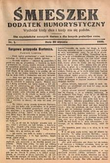 Śmieszek, 1929, nr1